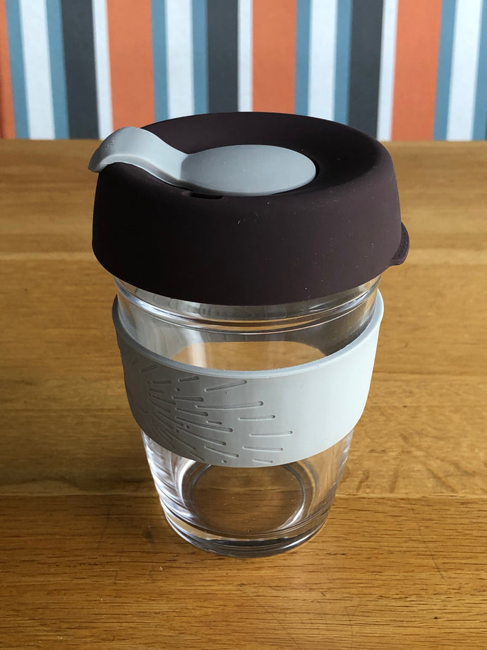 Reusable Coffee Cup with silicone sleeve