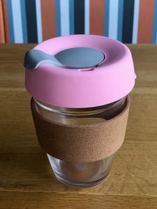 Reusable Coffee Cup with cork sleeve