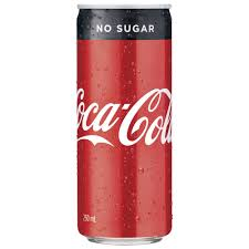 COCA-COLA NO SUGAR 250ML CAN