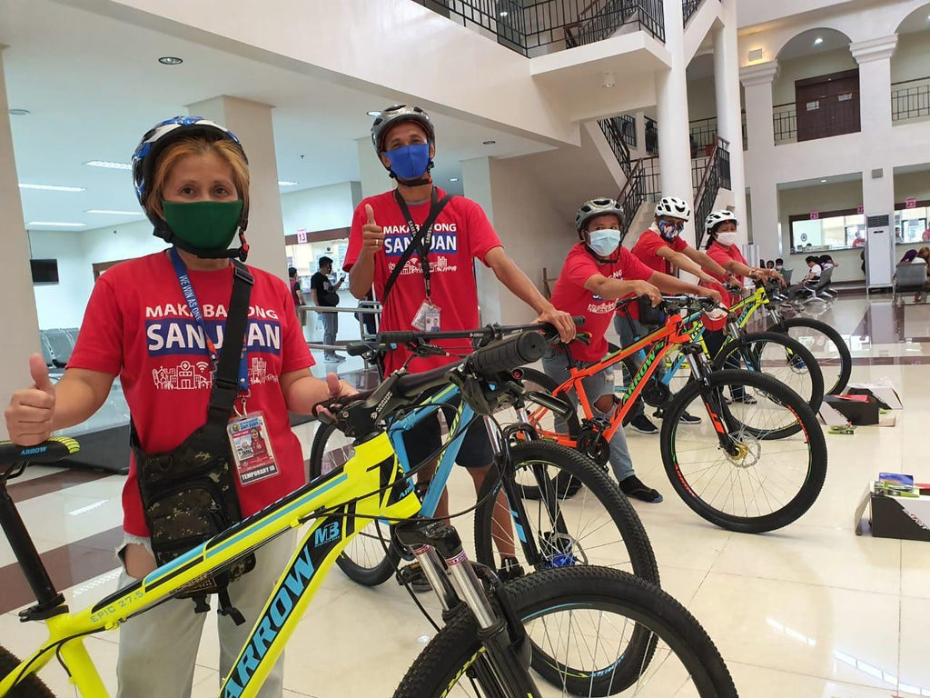 Front Liners from San Juan City Received their Bikes!