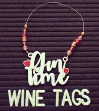 Load image into Gallery viewer, Gin Time Beaded Wine Tag in white