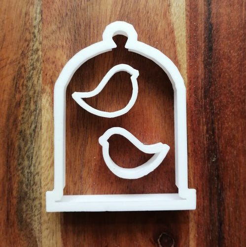 Birdcage with Birds Cookie Cutter