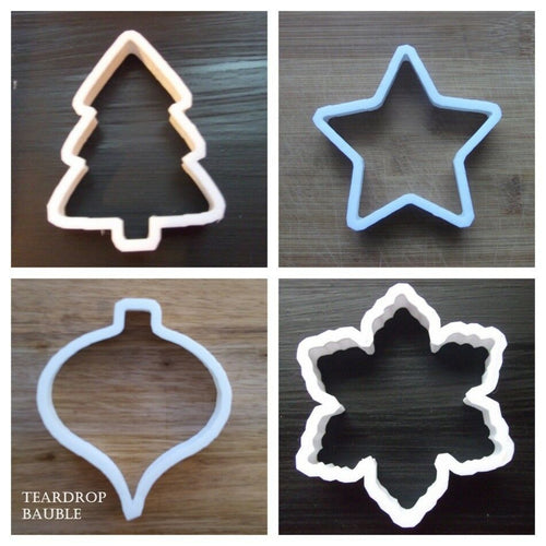 Set of 4 Christmas Cookie Cutters