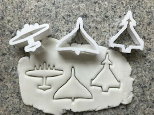 Mini Vulcan Eurofighter & Lancaster Plane Cookie Cutters