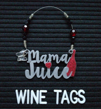 Load image into Gallery viewer, Mama Juice Wine Tag in Silver