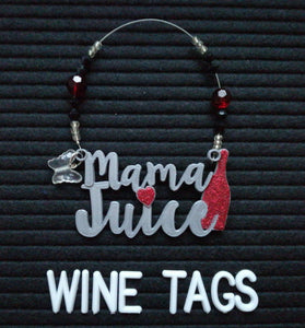 Mama Juice Wine Tag in Silver