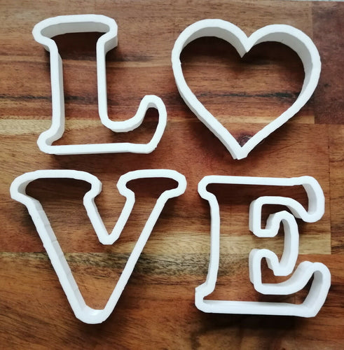 LOVE Letter Cookie Cutters