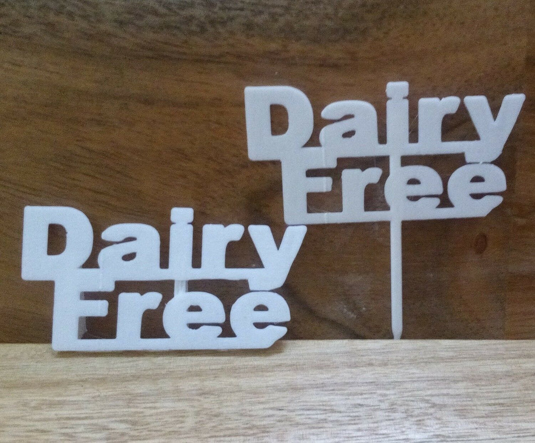 Dairy Free Table Sign Buffet Party Food Allergy Tableware