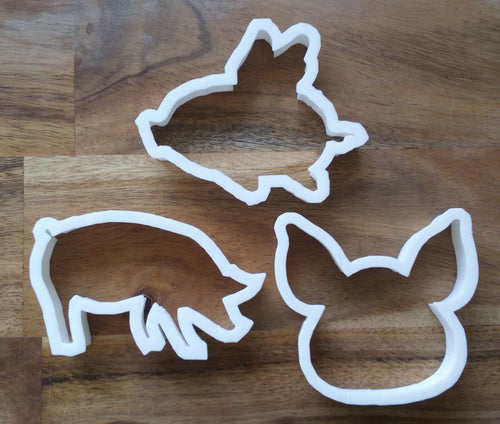 Set of 3 Pig Cookie Cutters