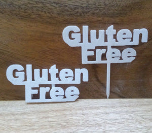 Gluten Free Table Sign Buffet Party Food Allergy Tableware Gluten