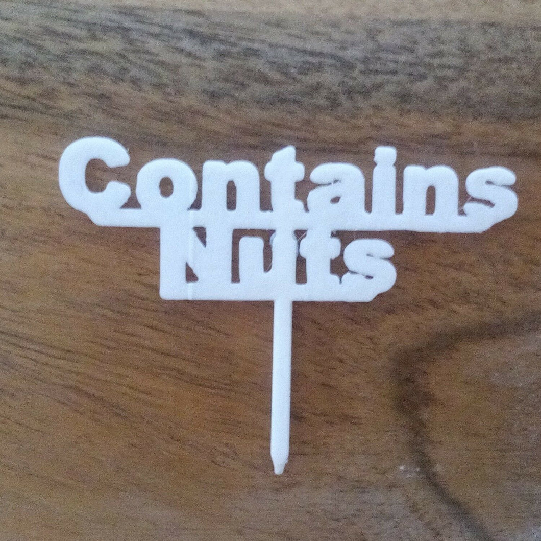 Contains Nuts Table Sign Buffet Party Food Allergy Tableware Nuts Gluten