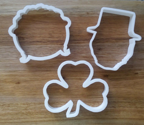 Set of St Patrick's Day Cookie Cutters
