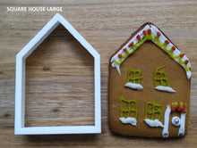 Load image into Gallery viewer, Square House Cookie Cutter