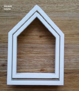 Set of 2 Square House Cookie Cutters