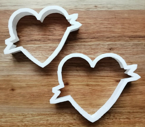 Heart with Banner Cookie cutter