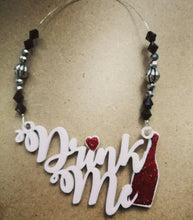 Load image into Gallery viewer, Drink Me Beaded Wine Tag
