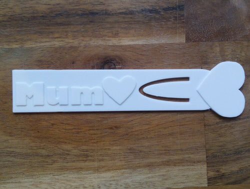 Personalised Mum Book Mark with Heart