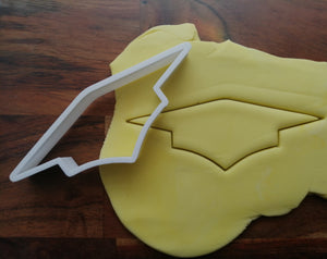 Mortarboard Cookie Cutter in icing