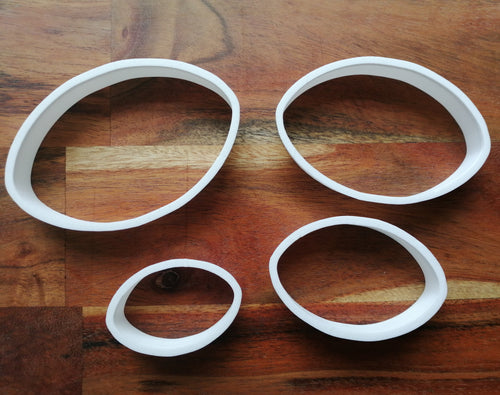 Rugby Ball Cookie Cutters set of 4
