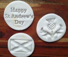 Load image into Gallery viewer, Set of 3 St Andrew's Day Stamps