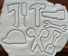 Load image into Gallery viewer, Set of Mini Tool Cookie Cutters