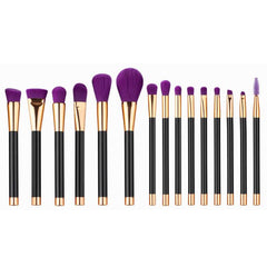 15PCS  Mini Make Up Foundation Eyebrow Eyeliner Blush Cosmetic Concealer Brushes
