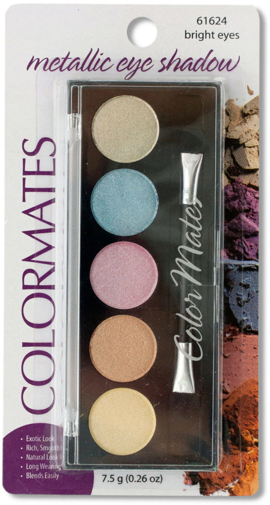 Colormates Bright Eyes Metallic Eyeshadow Compact Case Pack 24