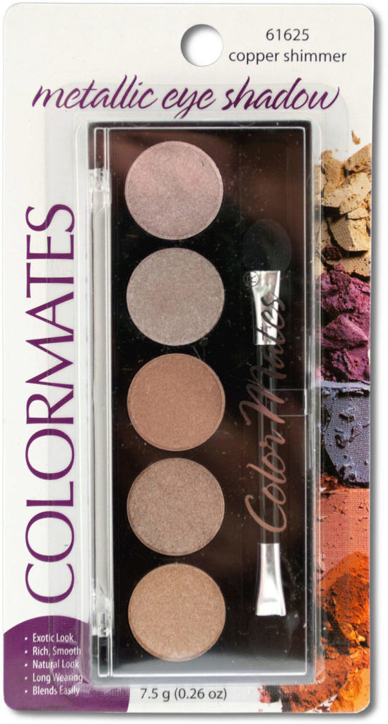 Colormates Copper Shimmer Metallic Eyeshadow Compact Case Pack 24
