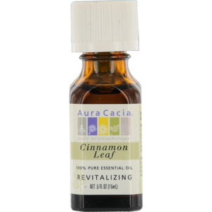 ESSENTIAL OILS AURA CACIA by Aura Cacia CINNAMON LEAF-ESSENTIAL OIL .5 OZ
