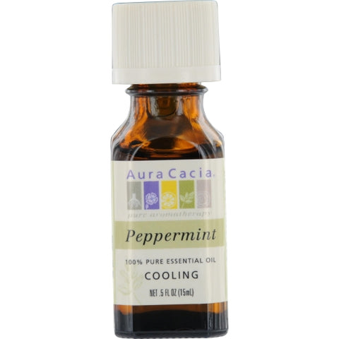 ESSENTIAL OILS AURA CACIA by Aura Cacia PEPPERMINT-ESSENTIAL OIL .5 OZ
