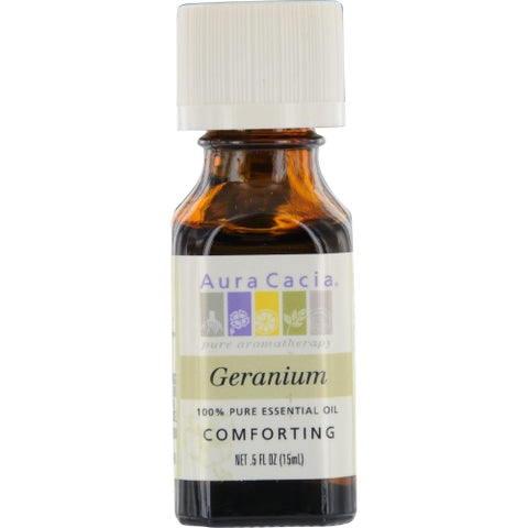 ESSENTIAL OILS AURA CACIA by Aura Cacia GERANIUM-ESSENTIAL OIL .5 OZ
