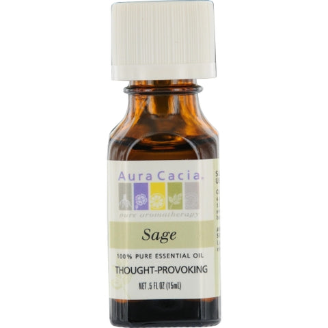 ESSENTIAL OILS AURA CACIA by Aura Cacia SAGE-ESSENTIAL OIL .5 OZ