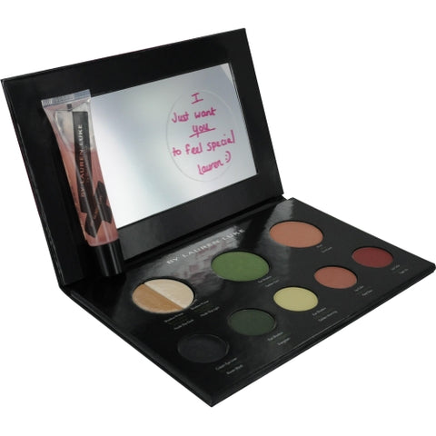 Lauren Luke by Lauren Luke My Lucious Greens-Complete Makeup Pallet- Includes 2 Shadow Primers, 3 Eye Shadows, Eye Liner, Blush, 2 Lip Colors, Lip Gloss