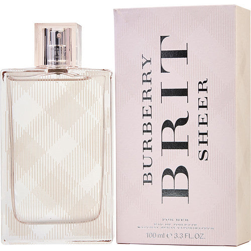 BURBERRY BRIT SHEER EDT SPRAY 3.3 OZ (NEW PACKAGING)