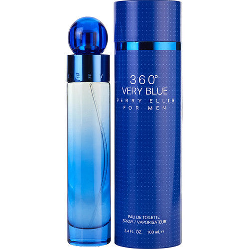 PERRY ELLIS 360 VERY BLUE by Perry Ellis EDT SPRAY 3.4 OZ