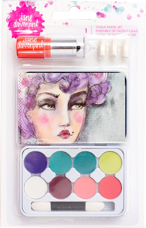 Jane Davenport Mixed Media 2 Chalk Pastels Tin 22/Pkg-Eye Shadow
