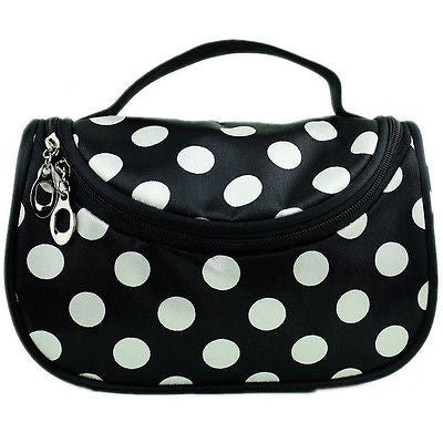 Zipper Portable Cosmetic Dots Bag Toiletry Bag Cosmetic Bag