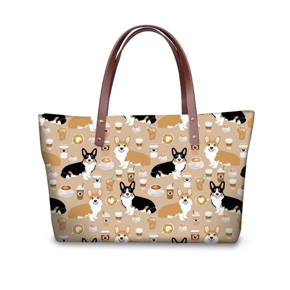 Pattern Ladies Tote Shopping Handbags