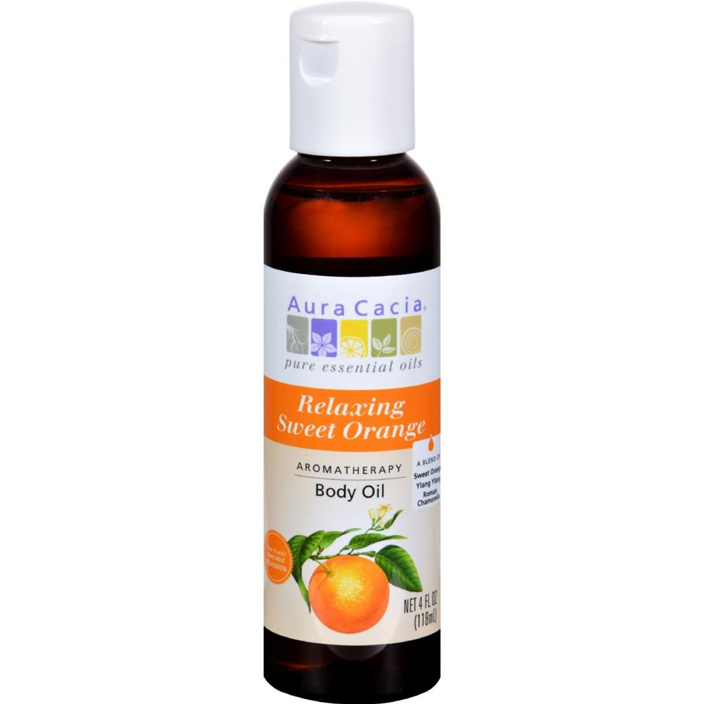 Aura Cacia - Citrus Relaxation Aromatherapy Body Oil ( 3 - 4 FZ): Citrus Relaxation Aromatherapy Body Oil