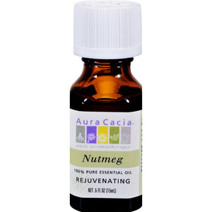 Aura Cacia - Nutmeg Pure Essential Oil ( 3 - .5 FZ): Nutmeg Pure Essential Oil