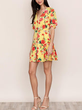 Load image into Gallery viewer, Short Sleeve Button Front Mini Dress