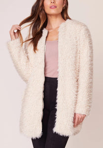 Full Zip Teddy Bear Faux Fur Jacket