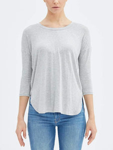 Public Habit 3/4 Sleeve Shirt - Gray