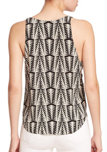 Sleeveless V-Neck Printed Tank