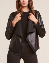 Load image into Gallery viewer, Long Sleeve Vegan Leather Reversible Drape Jacket
