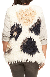 Sleeveless Shaggy Spotted Vest