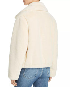 Faux Fur High Neck Jacket