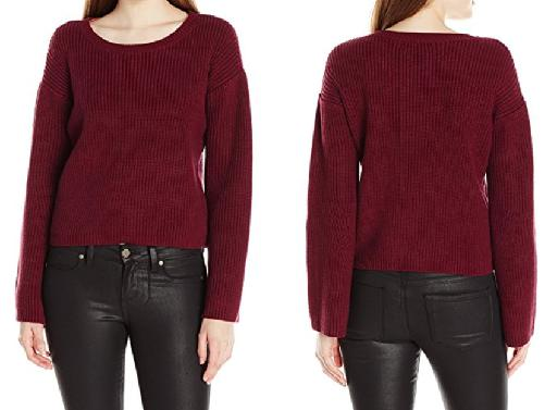 Relaxed Scoop Neck Sweater w/ Bell Sleeves