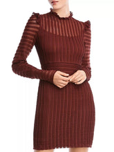 Load image into Gallery viewer, Mock Neck Textured Mini Dress