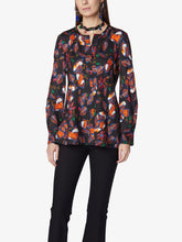 Load image into Gallery viewer, Long Sleeve Collarless Button-Up Blouse